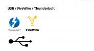 USB / fireware / Thunderbolt карты